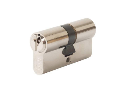 Цилиндр профильный 30/30, ключ-ключ, никелированный