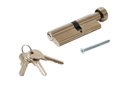 Цилиндр профильный MAXBAR с круглой ручкой 40 (ручка C)/50 (ключ)