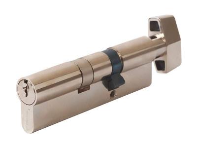 Цилиндр профильный MAXBAR с плоской ручкой CVG/K 35 (ручка)/65 (ключ), никелированный