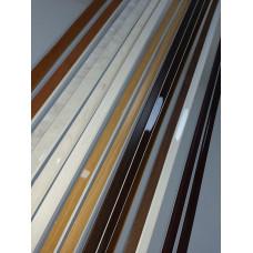 F-образный профиль Орех матовый, 3000 мм.