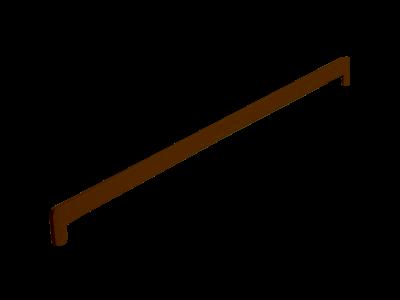 Боковая заглушка Кристаллит коричневая