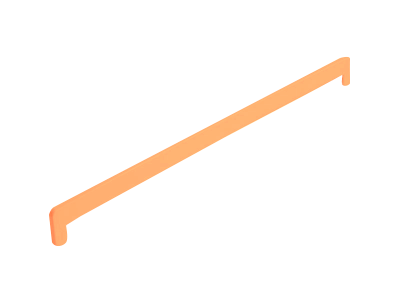 Боковая заглушка Кристаллит оранж